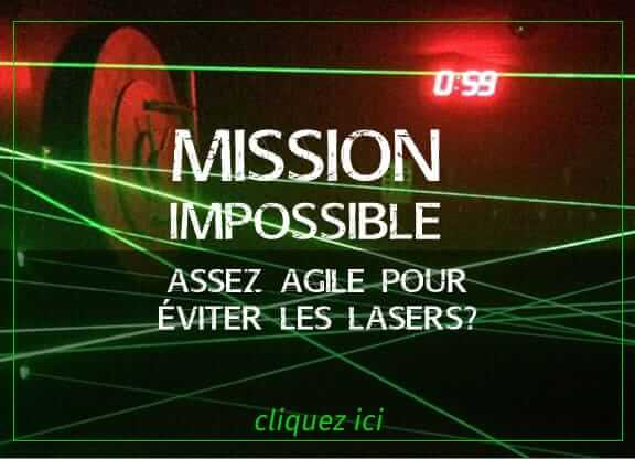 Jeu salle Mission Impossible